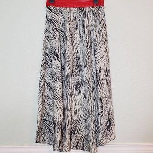 ARK & CO. Zebra Print High Low skirt
